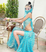 Hot Thai teen Eaw dressed as Indian Goddess