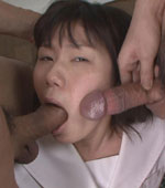 Amateur Japanese girl Misaki face full of cum