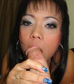 Slutty looking Thai girl enjoys a good shag