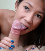 Pinay girl Kiana sucking on a big juicy cock
