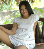 Filipina babe Keira Lee in cute doll dress