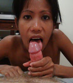 Slutty Pinay Mayka sucking a big white cock