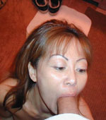 Korean Milf sucked on a super big and hard cock