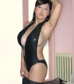 busty-ourei-harada-in-black-pvc-suit-07