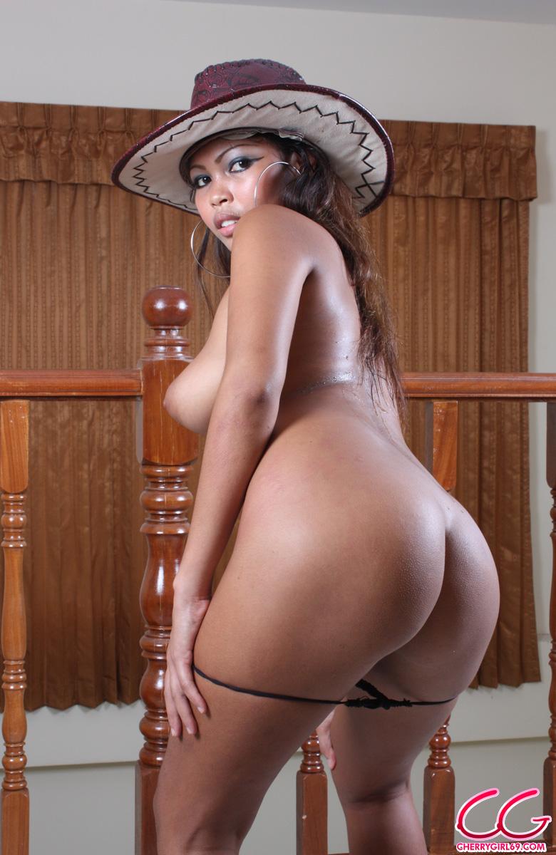 nude asian cowboy hat