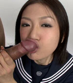 Naughty Japanese girl Mio got cum on her face