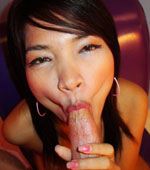 Cock sucking amateur Thai girl loves warm cum