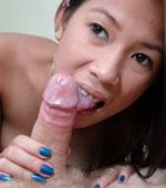 Pinay girl Kiana sucking on a big juicy cock