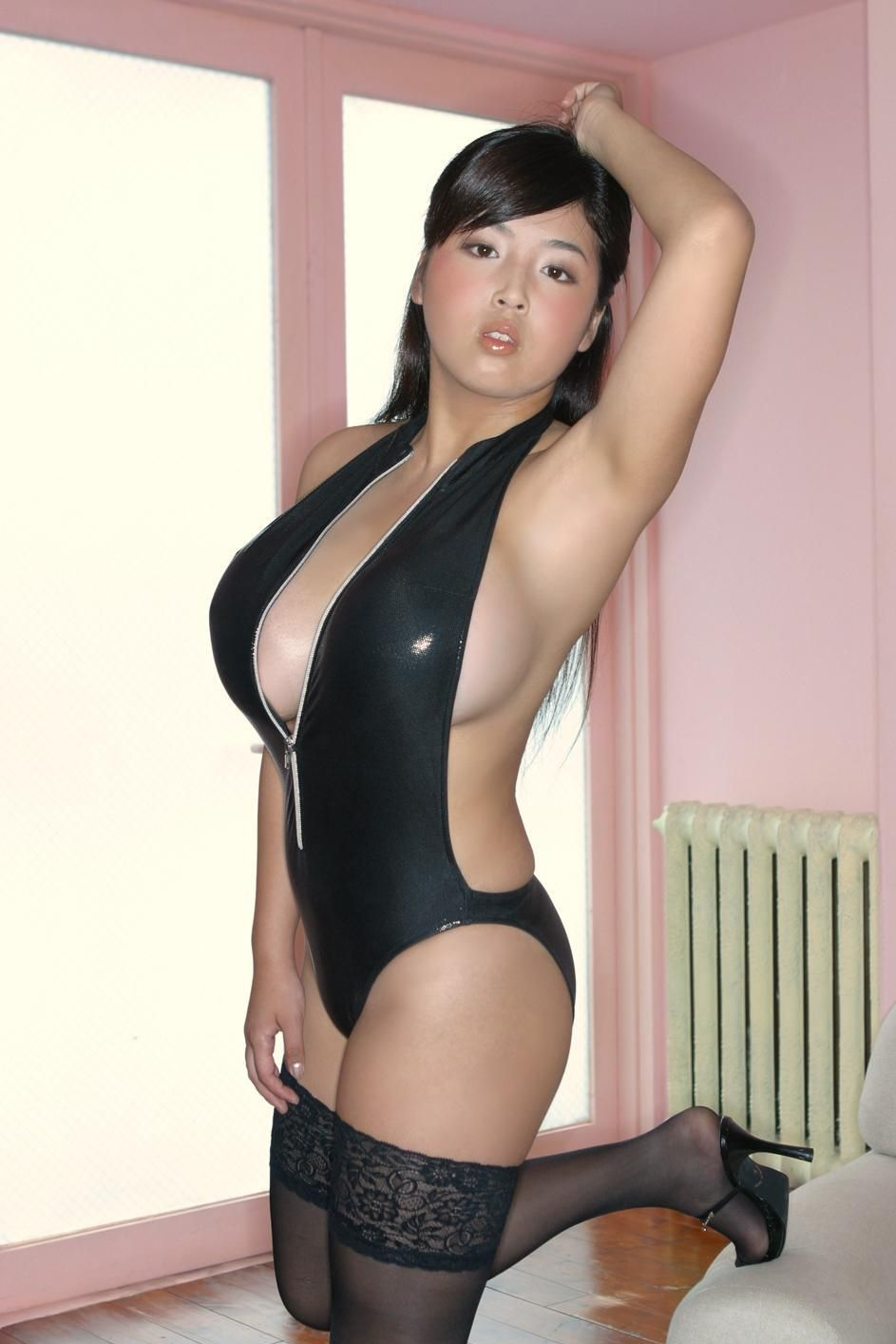 Big Tits Japanese Girl Ourei Harada In Pvc Suit  Asian -3058