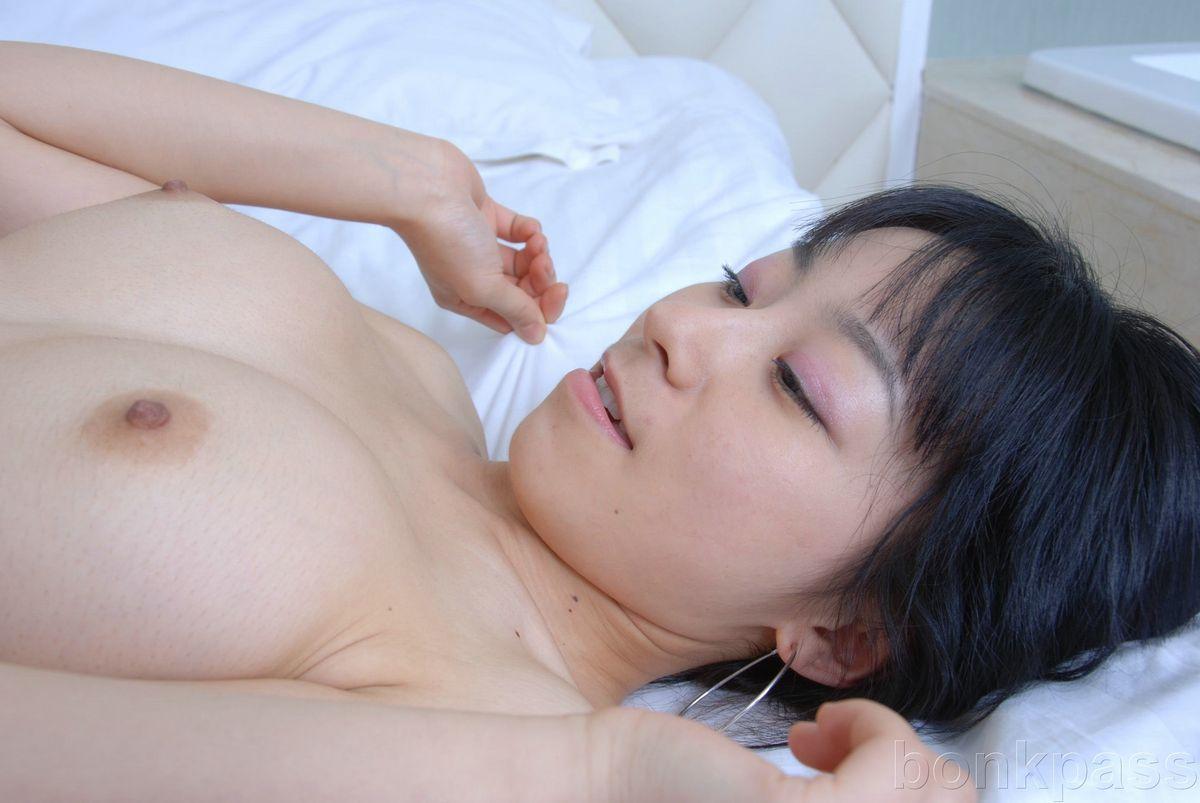 Chinese Girl Nip Slip In Her Fluffy White Bathrobe  Asian -3094