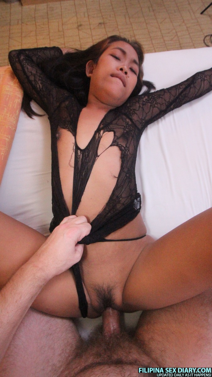filipina girl ashley in see through black lingerie asian