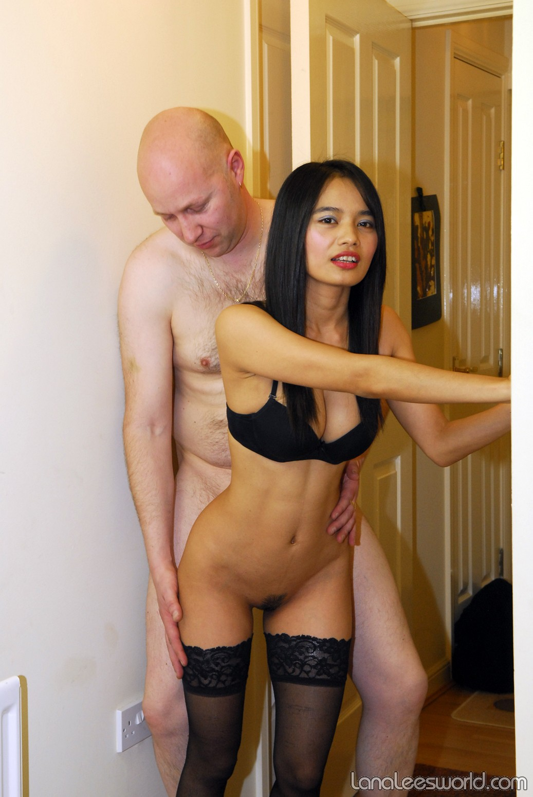 Interracial fuck at party